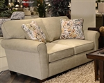 Zachary Loveseat in Cement, Mahogany, or Wheat Fabric by Jackson - 3278-02