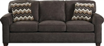 Zachary Sofa in Cement, Mahogany, or Wheat Fabric by Jackson - 3278-03