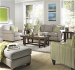 Zachary 2 Piece Set in Cement, Mahogany, or Wheat Fabric by Jackson - 3278-SET