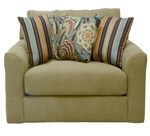 "Sutton Oversized Chair in ""Treasure"" Chenille by Jackson - 3289-01-T"