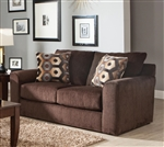 "Sutton Loveseat in ""Chocolate"" Chenille by Jackson - 3289-02-CH"