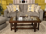 "Sutton Queen Sleeper Sofa in ""Cobblestone"" Chenille by Jackson - 3289-04-C"