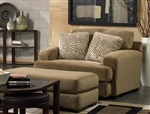Palisades Oversized Chair in Bronze Color Fabric by Jackson Furniture - 4186-01-B