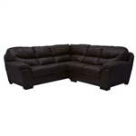 Lawson 2 Piece Godiva Leather Sectional by Jackson - 4243-2G