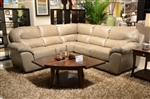 Lawson 2 Piece Putty Leather Sectional by Jackson - 4243-2P