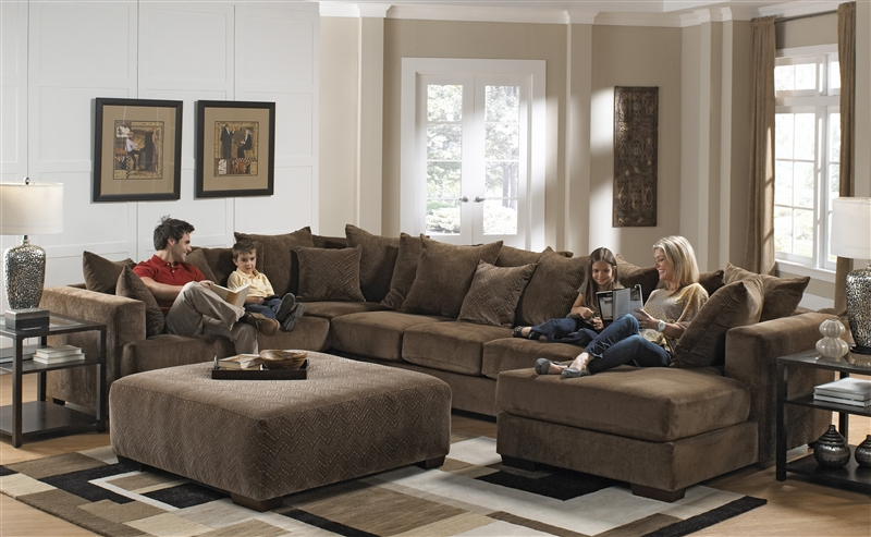 Ferguson BUILD YOUR OWN Sectional in Chocolate Fabric by Jackson - 4305 : jackson furniture sectional - Sectionals, Sofas & Couches