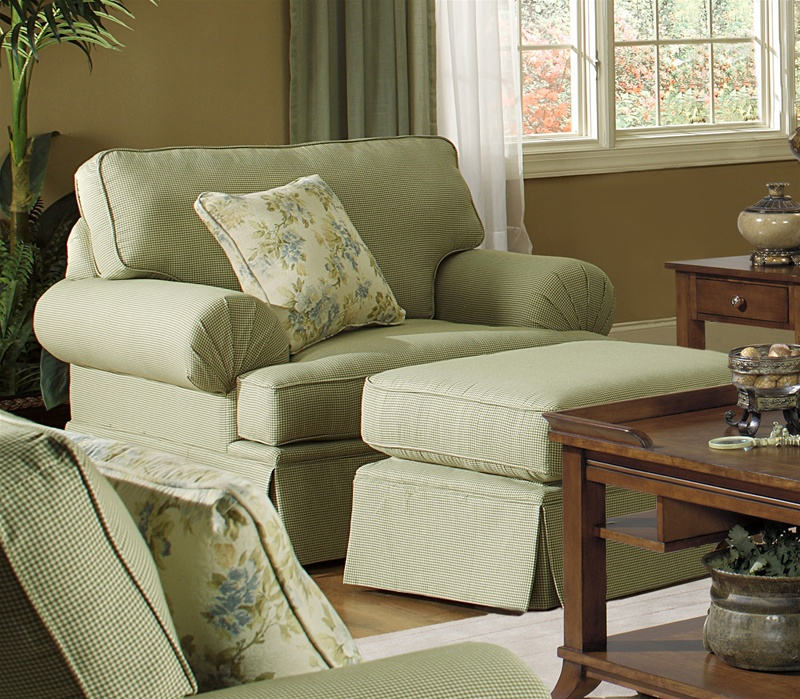 Westport Chair In Olive Gingham Check Fabric By Jackson Furniture   4334 01