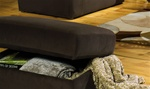 "Mesa Storage Ottoman in ""Chocolate"" Fabric by Jackson Furniture - 4366-77"