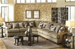 Hartwell 3 Piece Sectional in Bronze Color Fabric by Jackson - 4379-SEC-B