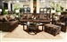 Hartwell 3 Piece Sectional in Chocolate Color Fabric by Jackson - 4379-SEC-CH
