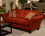 Halle Loveseat in Algerian Red Color Fabric by Jackson - 4381-02-A