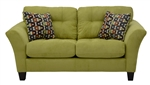 Halle Loveseat in Basil Green Color Fabric by Jackson - 4381-02-B