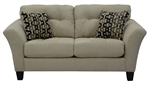 Halle Loveseat in Doe Natural Color Fabric by Jackson - 4381-02-D
