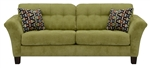 Halle Sofa in Basil Green Color Fabric by Jackson - 4381-03-B