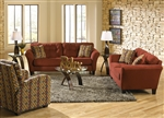 Halle 2 Piece Set in Algerian Red Color Fabric by Jackson - 4381-SET-A