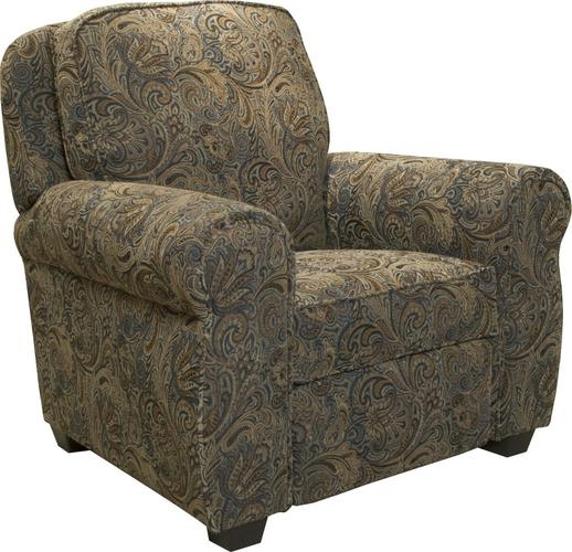 Downing Press Back Recliner In Persian Fabric By Jackson Furniture 4384 11 F