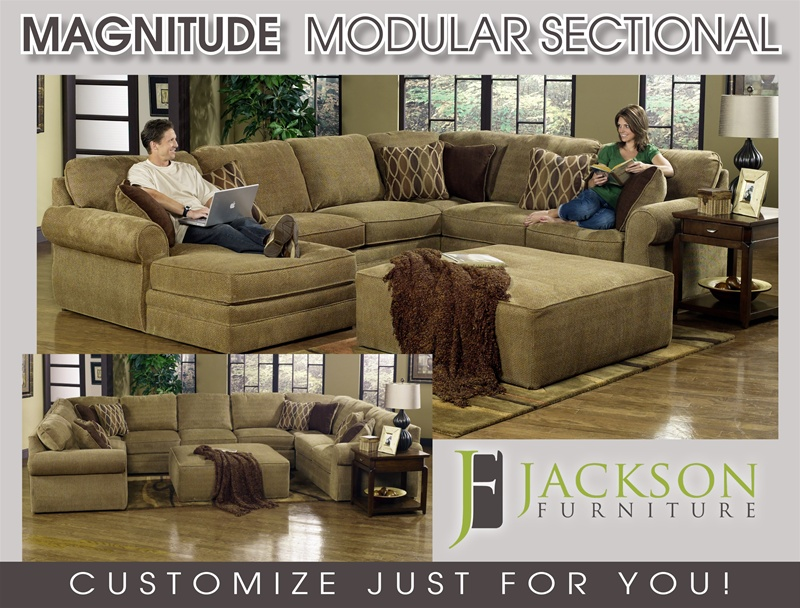 Magnitude BUILD YOUR OWN Sectional   Desert Chenille Fabric By Jackson    4390