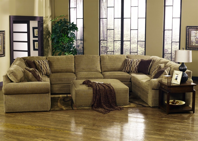 Magnitude 5 Piece Sectional in Desert Chenille Fabric by Jackson - 4390-5