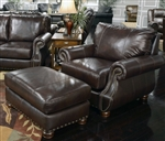 Dawson Chair in Timber Leather by Jackson Furniture - 4408-01-T