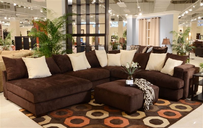 Chenille sectional gallery of remarkable sectional sofa for Ava nailhead chaise
