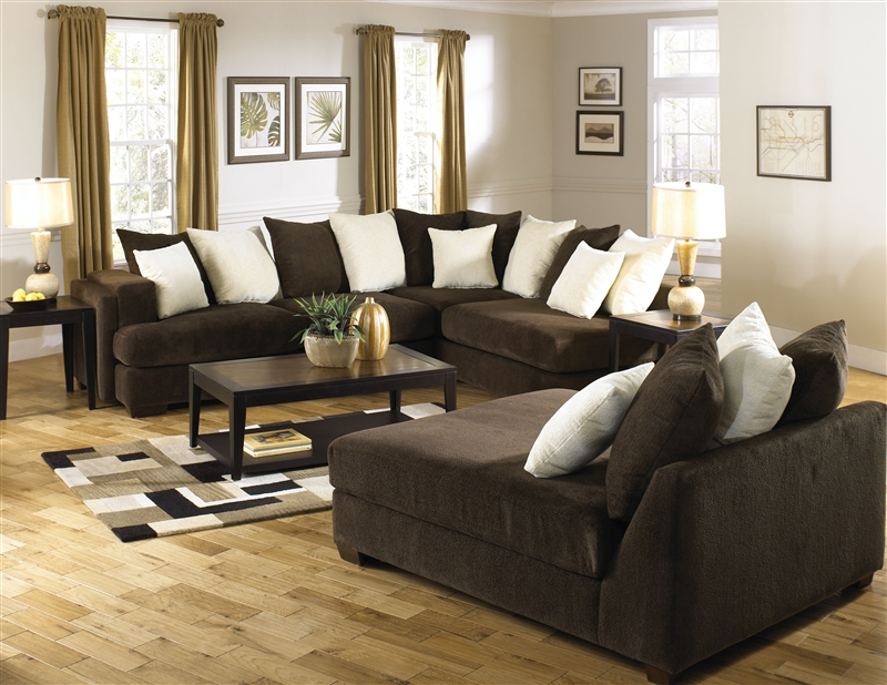 Axis 2 Piece Sectional in Chocolate Chenille Fabric by Jackson Furniture - 4429-2 : axis sectional - Sectionals, Sofas & Couches