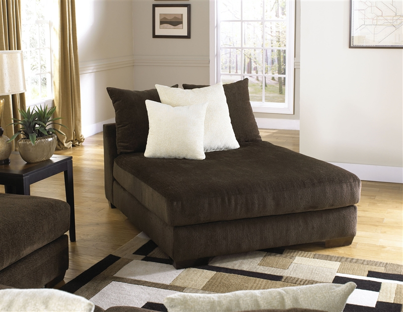 Axis Daybed Chaise Lounger in Chocolate Chenille Fabric by Jackson Furniture - 4429-38 : daybed chaise - Sectionals, Sofas & Couches
