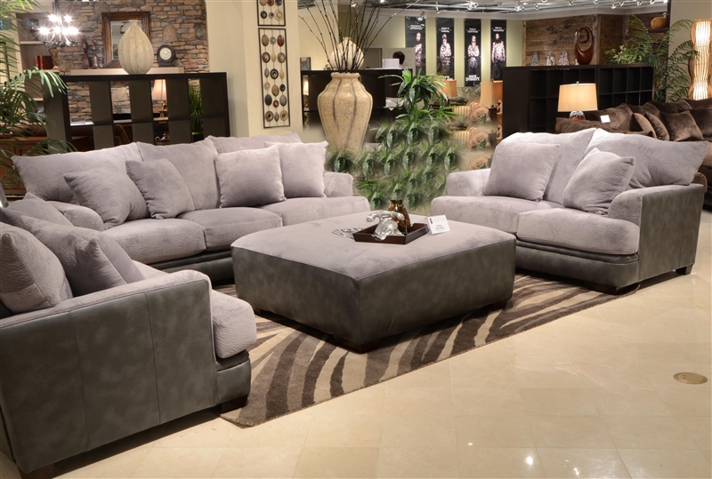 Barkley 2 Piece Sofa Set In Grey Fabric By Jackson Furniture   4442 S G