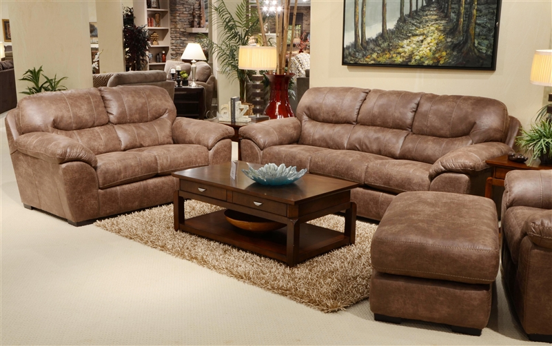 Grant Sofa In Silt Leather By Jackson Furniture 4453 03 S