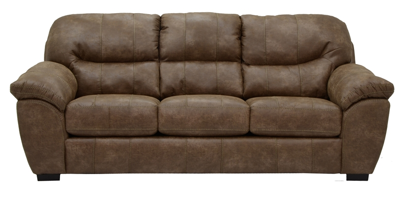 Grant Sofa Sleeper In Silt Leather By Jackson Furniture