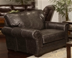 Channing Oversized Chair in Fudge Leather by Jackson Furniture - 4461-01-F