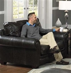 Channing Oversized Chair in Stone Leather by Jackson Furniture - 4461-01-S