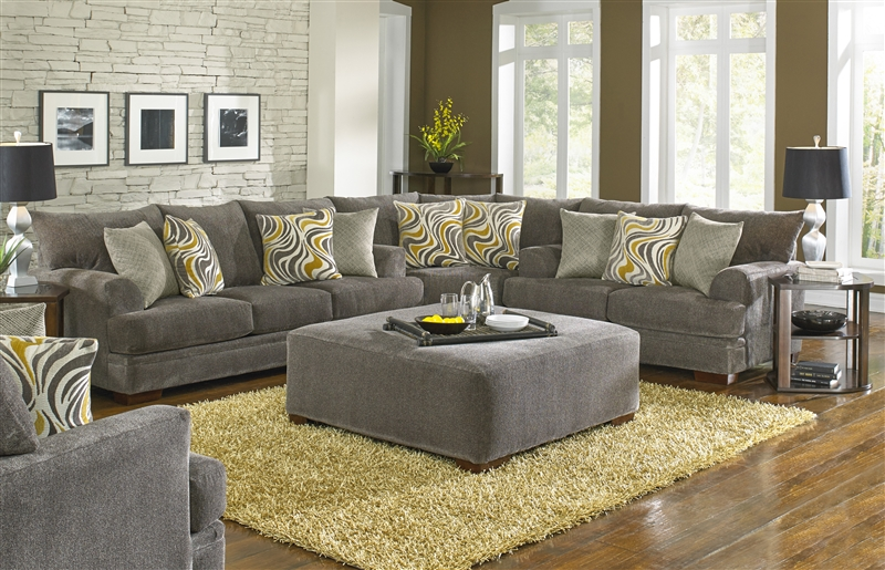 Crompton 3 Piece Sectional In Bark Chenille By Jackson Furniture 4462 Sec B