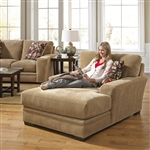 Prescott Chaise in Oatmeal Chenille by Jackson Furniture - 4487-09-O