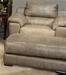 Sergio Oversized Chair in Smoke Leather by Jackson Furniture - 4526-01-S