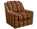 "Sutton Accent Swivel Chair in ""Algerian"" Garden Accent Fabric by Jackson - 722-21-A"