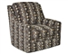 "Sutton Accent Swivel Chair in ""Chocolate"" Earth Accent Fabric by Jackson - 722-21-CH"