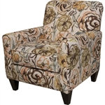 Zachary Accent Chair in Mocha Fabric by Jackson - 742-27-W