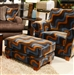 Hartwell Chocolate Accent Chair in Pattern Fabric by Jackson - 798-27-CH