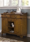 Nostalgia Server in Medium Oak Finish by Liberty Furniture - 10-SR4442