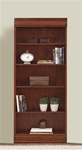 Louis Jr Executive 72-Inch Bookcase in Deep Cherry Finish by Liberty Furniture - 101-HO3072