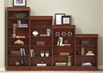 Louis Jr 4 Piece Executive Bookcase in Deep Cherry Finish by Liberty Furniture - 101-HOB