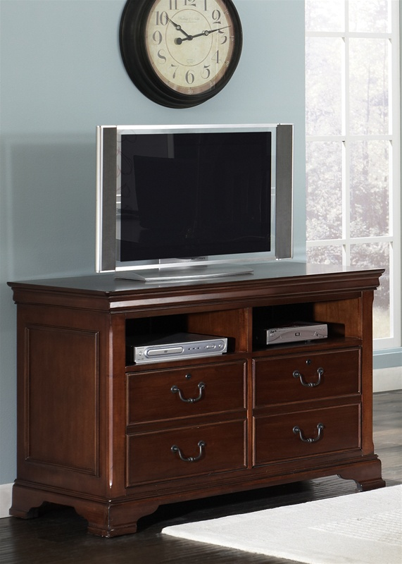 Home Office Sets Painted Office 5 Piece: Louis Jr Executive 5 Piece Home Office Set In Deep Cherry