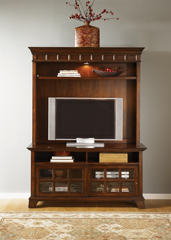 Charming 50 Inch Entertainment Center Part - 4: Remington 50-Inch TV Entertainment Center In Brown Whiskey Finish By  Liberty Furniture - 114-EC15