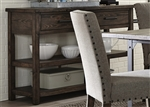 Caldwell Server in Dark Pewter Metal and Rustic Caramel Finish by Liberty Furniture - 117-SR5636