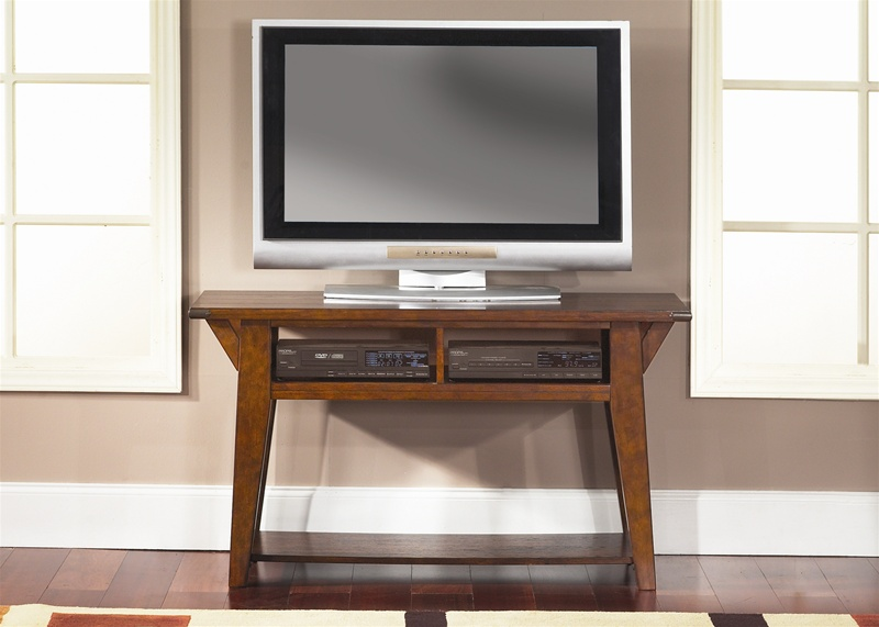 Cabin Fever 52 Inch Tv Stand Table In Bistro Brown Finish By Liberty