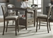 Candlewood Counter Height Gathering Table 5 Piece Set in Weathered Finish by Liberty Furniture - 163-CD-5GTS