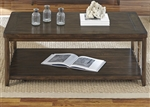 Dockside Cocktail Table in Tobacco Finish by Liberty Furniture - 169-OT1010