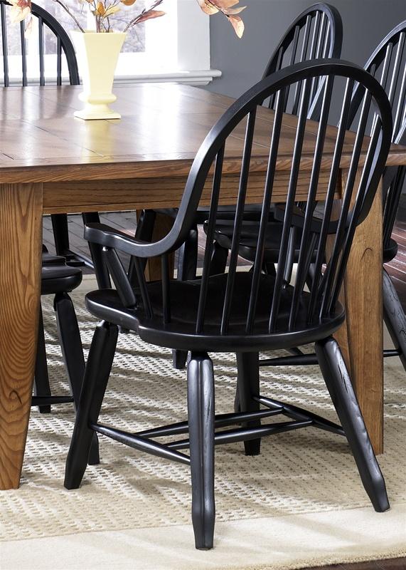 Treasures 7 Pc Extension Leg Table In Rustic Oak Finish