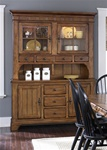 Treasures Buffet & Hutch in Rustic Oak Finish by Liberty Furniture - 17-CH6285