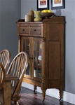 Treasures Display Cabinet in Rustic Oak Finish by Liberty Furniture - 17-CH6866K
